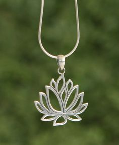Detailed sterling silver pendant made with cut out design. Made in Indonesia.