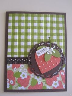 Just because I love to play.....: Sweet Strawberries and Gingham