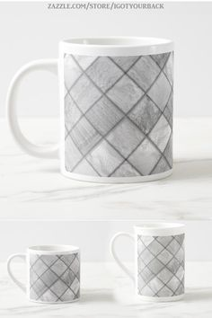 * White/Silver Faux Patchwork Quilting Pattern Coffee Mug by IgotYourBack by #Gravityx9 at Zazzle * Available as Jumbo mug, Bone China or Espresso. * Custom coffee mugs * custom drink ware * coffee mugs gift ideas * personalized coffee mugs gift ideas * generic gift coffee mugs * unisex gift ideas coworker * gift ideas friends * gift ideas adults * gift ideas coffee lovers * #coffeemug #custommug #customcoffeemug #drinkware #drinkwares #mug #kitchenware #silver #Patchwork #quilting 0920
