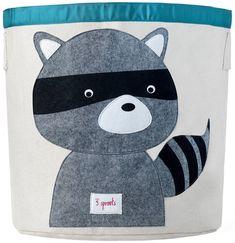 Applique Raccoon Storage Bin