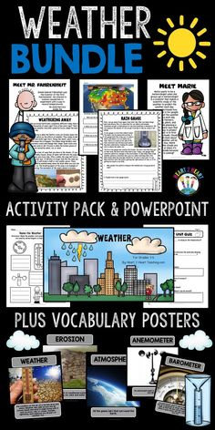 Primary Science, Third Grade Science, Science Experiments Kids, Teaching Science, Science Ideas, Weather Activities For Kids, Weather Science, Map Activities, Weather Instruments