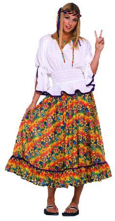 Costumes! 60's Hippie Skirt & Peasant Blouse Woodstock Costume Set #RM #SkirtandBlouse #CostumeParty