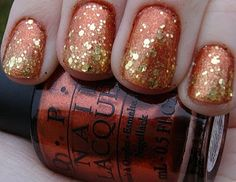 Awesome Thanksgiving Nails. Will need to try this with PURE Nail Lacquer
