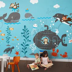 Below are the Playroom Mural Design Ideas For Kids. This post about Playroom Mural Design Ideas For Kids was posted … Kids Wall Decals, Wall Stickers, Wall Murals For Kids, Wall Vinyl, Modern Kids Decor, Playroom Mural, Bedroom Murals, Bedroom Wall, Nursery Murals