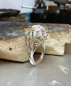 Disciplined Precioso 18ct Oro Blanco Fantasía Color Amarillo Diamante Filigrana Special Summer Sale Diamond