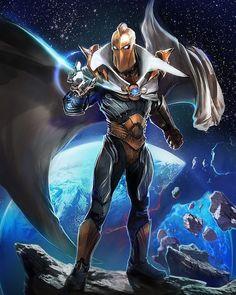 Doctor Fate by Justin Murray Marvel Comics Art, Dc Comics Characters, Marvel Heroes, Doctor Destino, Comic Books Art, Comic Art, Dr Fate, Superhero Villains, Punisher