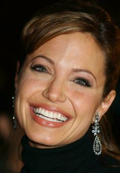 Angelina Jolie.  She has such a beautiful smile.