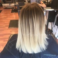 #straight #blended #blonde #balayage