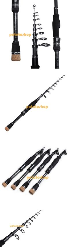 Ice Fishing Rods 179947: Spinning Fishing Rod Portable 100% Carbon Fiber Telescopic Travel Pole BUY IT NOW ONLY: $35.24