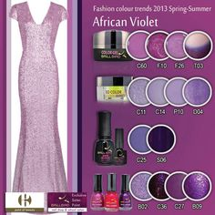 African Violet African Violet, Nail Shop, Fashion Colours, Beauty Nails, Color Trends, Salons, Spring Summer, Products, Lounges