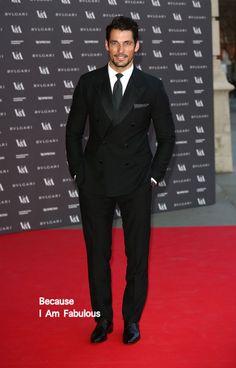 David Gandy in Dolce & Gabbana - The Glamour of Italian Fashion exhibition
