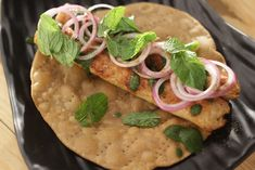 Seekh Parantha - Whatever the question is, kebabs are the answer! This recipe of deep-fried parantha topped with hot, tantalizing seekh kebabs is one of my go-to foods. Seekh Kebabs, Sanjeev Kapoor, Tasty, Yummy Food, What To Cook, Party Snacks, Recipe Of The Day, Fries, Flat Bread