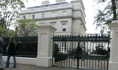 A mansion in Kensington Palace Gardens, London, Britain's most expensive street.