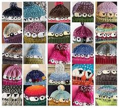 ♥ Just a few of the over 4,000 finished Baa-ble Hats on Ravelry. You can download the FREE pattern by Donna Smith at: shetlandwoolweek.com/free-knitting-pattern/ Photo courtesy of Punkin's Patch at Equinox Farm via h2onina/LisaW ♥