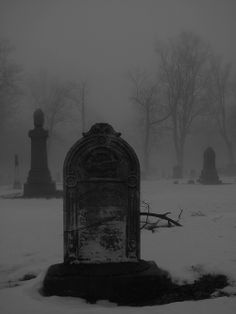 Finally there is silence among the tombstones.