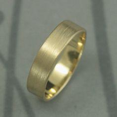 Men's Wedding BandModern Men's BandSolid 10K Gold 5mm by debblazer