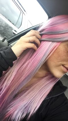 Pink and gray/blue hair
