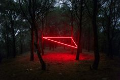 Abstract Light Installations by Nicolas Rivals Grace the Spanish Countryside