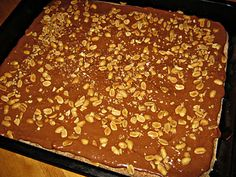 Snickerskake i langpanne Griddle Pan, Scandinavian, Food And Drink, Pudding, Chocolate, Baking, Sweet, Desserts, Irene