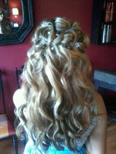 half up half down updo formal prom style wedding hair blonde hair color for blondes *All About You* Hair by Brandy Bilbrey Formal Prom, Formal Hair, Pagent Hair, Engaged To Be Married, Half Up Half Down, Wedding Hairstyles, Pageant Hairstyles, Ponytail, Hair Color
