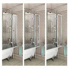 Burlington Traditional Bath Screen with Access Panel — Unbeatable Bathrooms Standing Shower, Paneling, Traditional Baths, Bathrooms Remodel, Shower Screen, Contemporary Design, Access Panel, Bath Shower Screens, Bath Screens