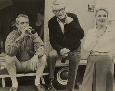 1968 Paul Newman Cary Grant Joanne Woodward 1960s Vintage Hollywood Photo