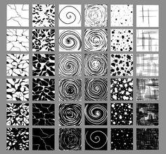 Texture Drawing Examples | HaNguyen: 36 custom textures