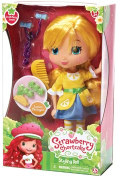 NIB Strawberry Shortcake  11'' Styling Doll -Lemon  Doll  #Hasbro