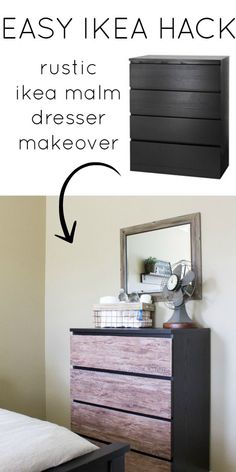 Such an easy Ikea hack! Update a dresser with vinyl adhesive paper!