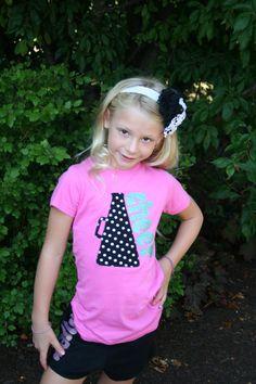 Polka Dot Megaphone with Glitter Cheer, Cheerleading Shirt, Cheerleading Tanks, Cheer, Cheerleading, Cheer Athletics