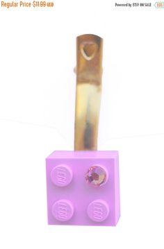 ON SALE Light Pink LEGO R brick 2x2 with a by MademoiselleAlma #MademoiselleAlma #LEGO #ETSY