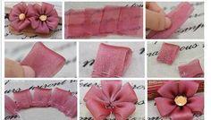 Envie de faire une fleur en tissu ! rien de plus simple !