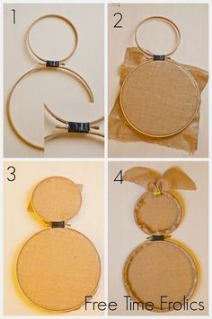 Embroidery Hoop Bunny Door Decor: