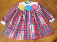 Size 2 3 4  Vintage Toddler Girl Plaid Balloon by LittleMarin