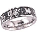 A dragon! Leadership. Loyalty. This incredible Welsh Dragon Ring with Celtic Knots is a perfect representation of the inner wisdom and strength of a true warrior! Featuring an unparalleled degree of detail and durable-yet-lightweight titanium construction, these Welsh Dragon Rings combine two of the oldest symbols from the United King for a men's dragon ring that radiates elegance and power.