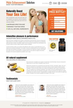 Male enhancement or penis enlargement pills landing page design | High Converting Landing Page Design Blog