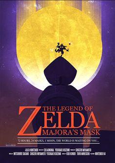 Clocktower - The Legend of Zelda - Jogos   Posters Minimalistas