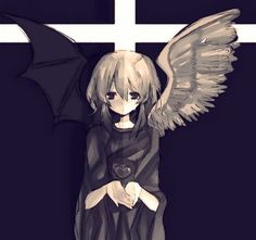 Ryou Bakura: Change of Heart Anime Devil, Anime Angel, Anime Figures, Anime Characters, Neko, Bakura Ryou, Ange Demon, Pretty Anime Girl, Angeles
