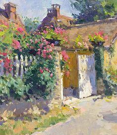 "Richard Oversmith - ""Giverny Garden Gate"" 18x16"