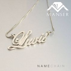 Custom made silver name chain necklace Jewelry Making, Wedding Rings, Engagement Rings, Jewels, Chain, Silver, Enagement Rings, Bijoux, Money