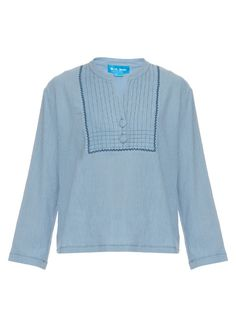 M.I.H JEANS Still Long-Sleeved Crepon Top. #m.i.hjeans #cloth #top