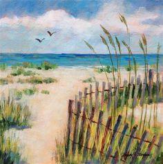 "Daily Paintworks - ""Wind Break"" - Original Fine Art for Sale - © Nancy F. Morgan"