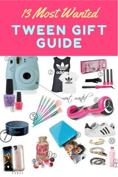 Tween Gift Guide- Most Wanted Gifts For The Holiday Season. Are you looking for the perfect gift for that tween in your life? This complete Tween Gift Guide will make Christmas shopping for tweens a breeze.