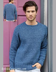 3a4277e1397541 Men s jumper knitting pattern free Double Knitting Patterns