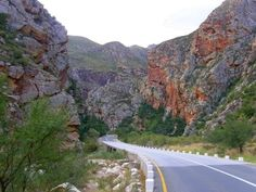 and we will drive through my favourite and most beautiful Meiringspoort Pass (De Rust - Beaufort West) Beautiful Roads, Beautiful Places To Visit, Beautiful Landscapes, Best Places To Vacation, Best Vacations, Places To Go, Beaufort West, Travel Tours, Africa Travel