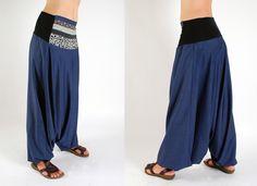 'Pamir' harem pants (jean/ patchwork) - moondeval - Harem Pants