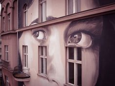 Rone New Street Art - Berlin, Germany Currently touring through Europe, Rone's first stop was Germany where he worked several days on this new piece in Berlin. As usual with Rone, his urban artwork. Murals Street Art, Graffiti Art, Street Art Love, Best Street Art, Street Installation, Space Artwork, Grafiti, Deco Originale, Art Challenge