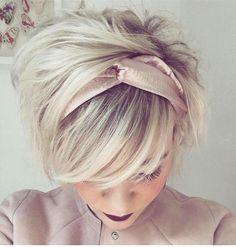 18 kurze süße Frisuren - hair styles for short hair Sweet Hairstyles, Cute Hairstyles For Short Hair, Pixie Hairstyles, Pixie Haircut, Headband Hairstyles, Pretty Hairstyles, Short Hair Styles, Hairstyle Ideas, Asian Hairstyles