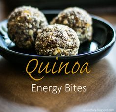 Grain Crazy: Quinoa Energy Bites (gluten free) Add a nourishing snack to your day.