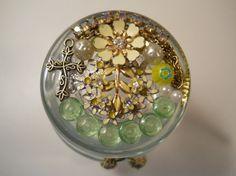 Jeweled Trinket Jar Chaos to Christ Jar Jeweled by ChaostoChrist